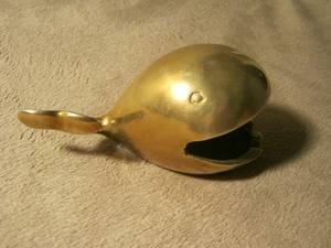Solid Brass Vintage Whale Ashtray (Homestead)
