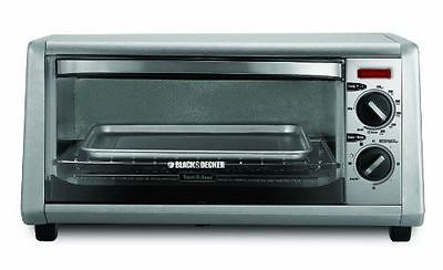 BLACK+DECKER TO1430S 4-Slice Toaster Oven Stainless Steel