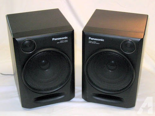 Panasonic RX-DT610 Boombox Radio System Speakers Pair