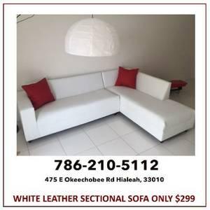2PC White Sectional Sofa $299 (Miami)