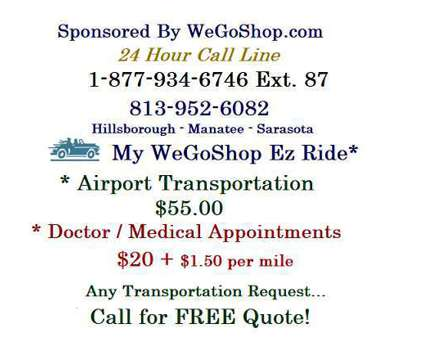My Ez Transportation By WeGoShop-Apollo Beach