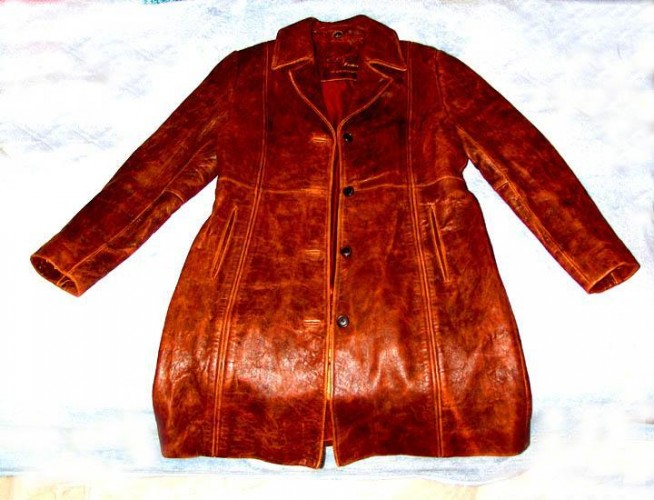 Brand New Ladies (Women's) Fashion Genuine Leather Coat Size (L) Large