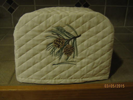 New PINE CONE 2 or 4 Slice Toaster Appliance Covers Cream