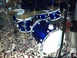 Ddrum 5pc, pedals, ride cymbals. - $600 (tracy)
