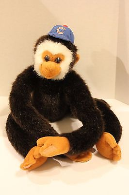 Chicago Cubs plush monkey with hat baseball stuffed animal