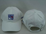 New York Rangers Reebok NHL White Slouch Cotton Adjustable Hat Cap