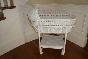 Pottery Barn Baby Bassinet and Mattress Pad Set (Simply White) - NEW