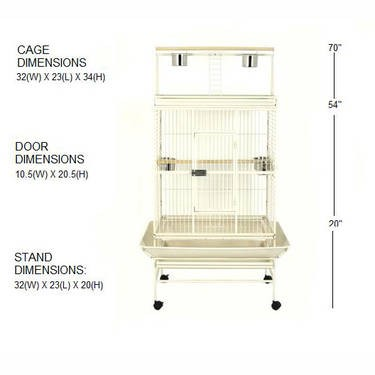 Big Brand New PARROT CAGE with Seed Guards & Play Top Price Negotiable