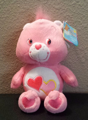 2002 Care Bear Love A Lot Stuffed Animal Plush Pink Heart