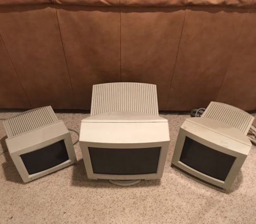 Lot of Vintage Apple CRT Monitors