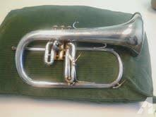 Beautiful silver Couesnon Monopole Flugelhorn - great shape -