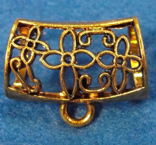 5 Pcs. Tibetan Antique Gold Pendant Scarf BAILS Connectors