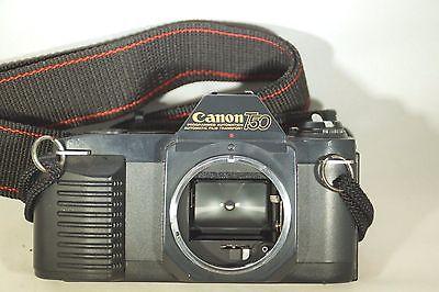 Canon T50 SLR 35mm Film Camera Body Only w/Shoulder/Neck