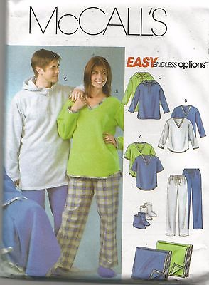 UNCUT 4675 McCalls Sewing Pattern Mens Boys Tops Pants Socks