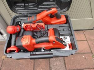 24v Black & Decker Firestorm Cordless Tool Combo set Circular Saw