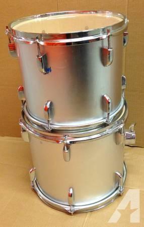 Misc Drums - Kick, Toms, Floor Toms, Black, Blue, Silver, Wine red -