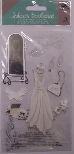 Jolee's WEDDING GOWN 3D Stickers