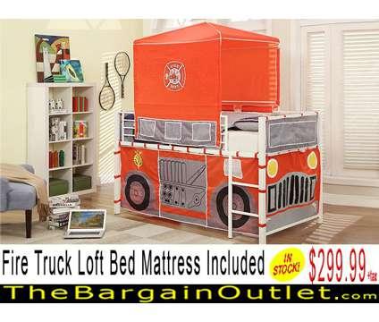 Fire Truck Loft Bed W/ Mattress