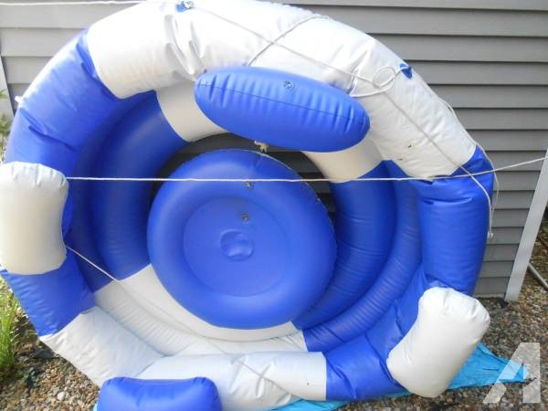 huge water tube/raft fits four -