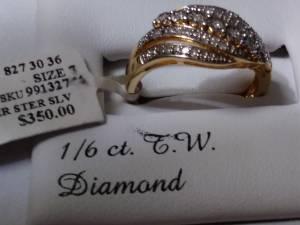 Diamond Fashion ring (new) (Marina del rey / vista)