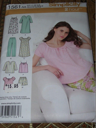 SIMPLICITY #1561-LADIES SUMMER or WINTER PAJAMAS - NIGHTGOWN