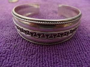 Sterling Cuff Bracelet 925 (E. Mesa Can Ship)
