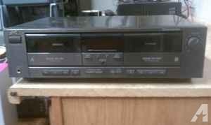 JVC Dual Cassette Deck TD-W205 - $20 (Chesterfield)