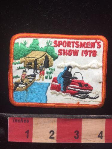 Vtg 1978 Sportsman's Show Patch - Boat & Canoe 74J2