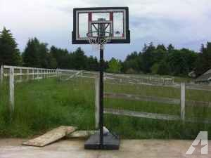 Basketball Hoop and stand - $50 (Springfield, OR)