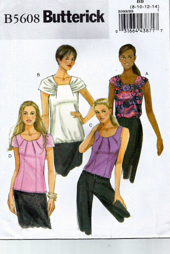 Misses' Pullover Hip-Length Top/Blouse Pattern - Butterick