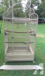 Beautiful large bird cage with accessories