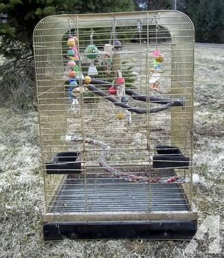 Prevue Large Corner Parrot cage