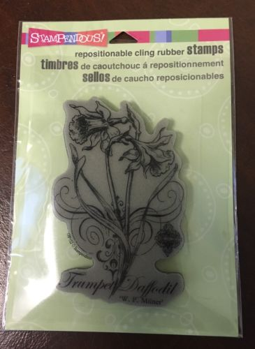 Stampendous Repositionable Cling Rubber Stamp: Trumpet