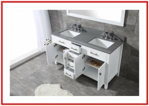 Diamond White Shaker Double Bathroom Vanity