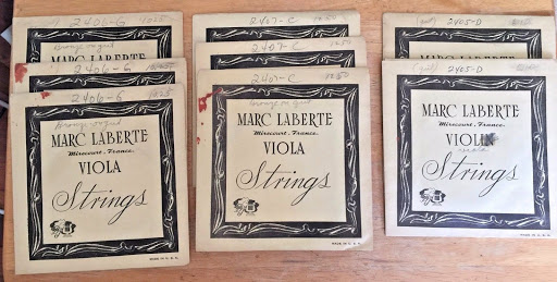 Eight (8) Vintage Marc Laberte Viola Strings - Open Stock