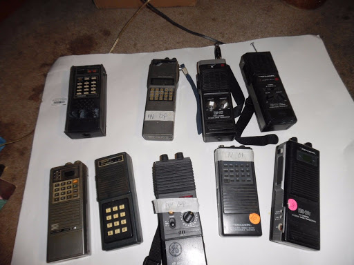 10 hald held walkie talkies cb, ham 2 meter, vhf scanners
