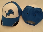 Detroit Lions Blue/Black/White Adjustable Hat Cap OSFA