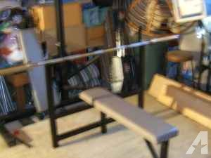 Olympic Plates/Bench/Bar, Weight-tree, Weider 355, FREE LAT Machine