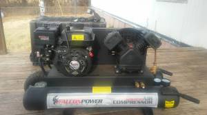 Falcon Industrial Gas Powered Air Compressor with a 5.5 hp/208cc motor (Newalla)