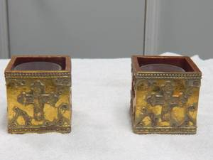 Religious Gold Candle Holders