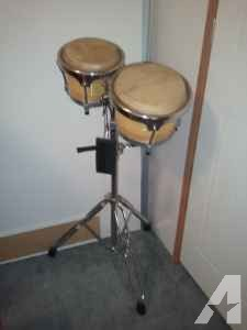 double bongos with stand - $75 (Leland)