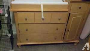 Crib and changing table - $125 (Belmont)
