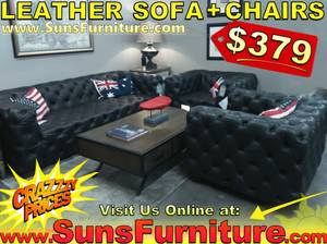 Sectional Sofa and Chairs - 3 Piece Couch Set Living Room Sale (free delivery