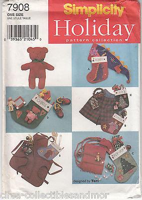 Christmas Decorations Stocking Hat Apron Bear Scarf