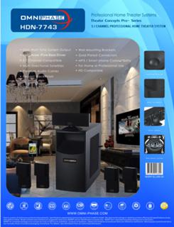 Omniphase HDN-7743 Home Theater System