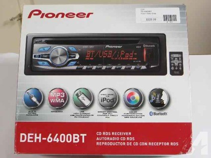 $150 PIONEER DEH-6400 BT RADIO CD/MP3 player/digital player