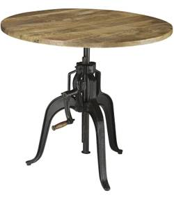 Round adjustable table