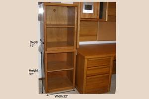 Two solid oak stereo cabinets, $40 each (N Federal & W 120th Ave)