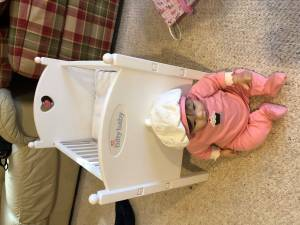 Bitty Baby Crib, baby dolls, bouncy seats and MORE *** (Reston)