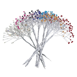 Crystal Rhinestone Spray Branch, 7-1/2-Inch, 12-Count